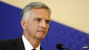 Swiss Federal Councillor Didier Burkhalter in August 2013