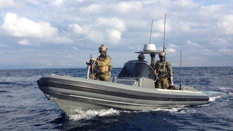 Patrol with Norwegian coast guard