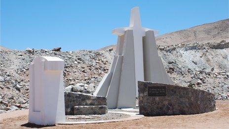 Monument at the San Jose mine