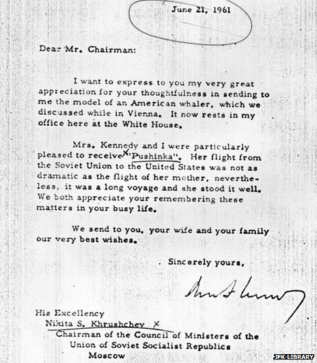 Letter from JFK to Khrushchev