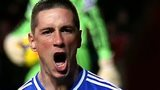 Fernando Torres celebrates Chelsea's opening goal against Southampton
