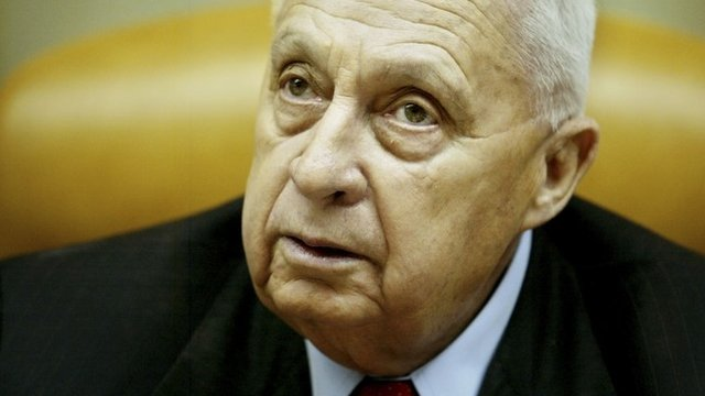 File photo from January 2005 showing Ariel Sharon