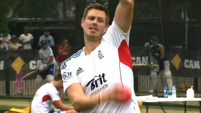 Pace bowler Boyd Rankin prepares for the fifth Ashes Test