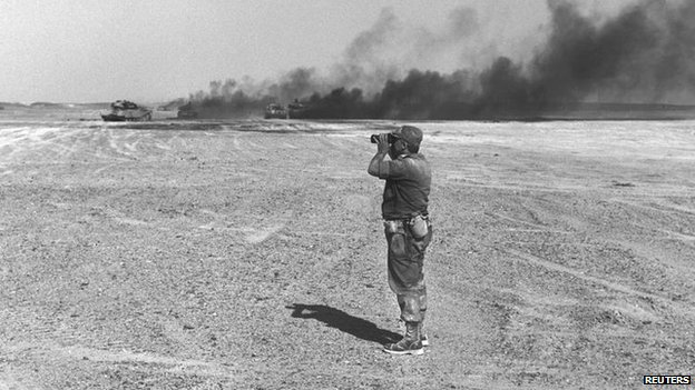 Ariel Sharon in Sinai in 1967