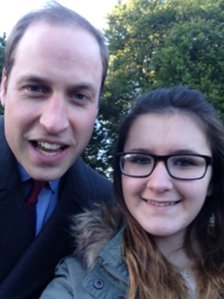 Madison Lambe and Prince William