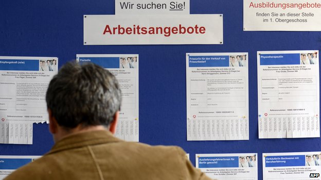 Jobseeker in Germany - file pic