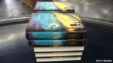 Copies of The Cuckoo's Calling being reprinted