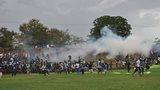 Tear gas at the stadium in Balaka