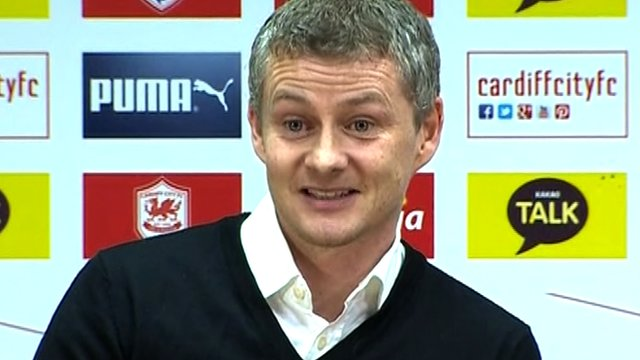 "Ole Gunnar Solskjaer says he is taking over at Cardiff ""with open eyes"""