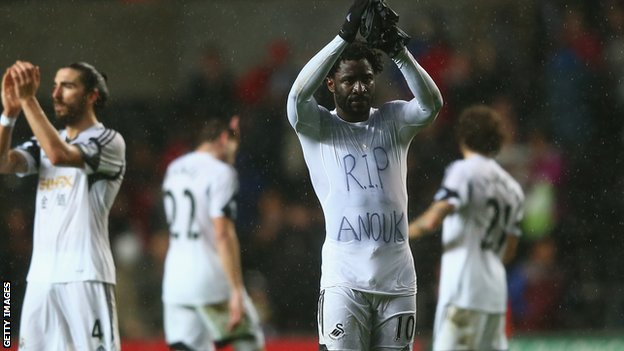 Swansea striker Wilfried Bony