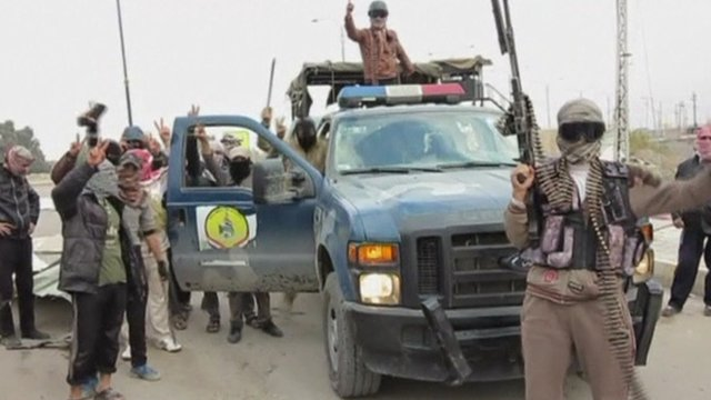 Militant fighters in Iraq