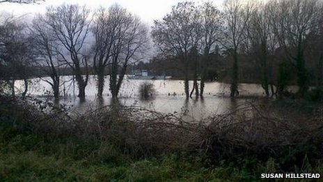 Flooding near Hereford