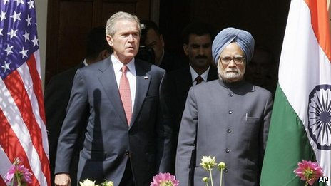 George W Bush and Manmohan Singh, March 2006