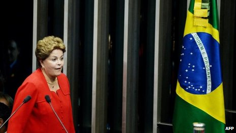 A presidente Dilma Rousseff, em Brasília, 18 de dezembro
