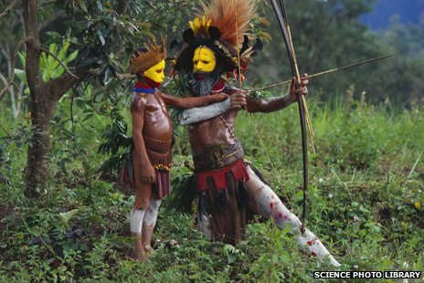 Huli tribespeople, Papua New Guinea