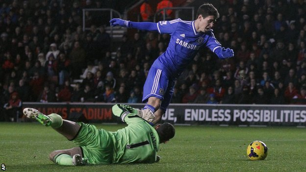 Chelsea player Oscar takes a dive