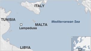 Lampedusa map