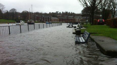 Flooding at Dumbarton