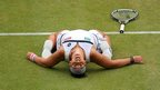 Marion Bartoli celebrates victory over Kirsten Flipkens in the semi-finals of Wimbledon. The Frenchwoman went on to beat Germany's Sabine Lisicki in the final - and shocked the tennis world by retiring a few months later.