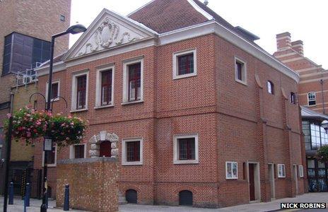 Exterior of the indoor Jacobean theatre