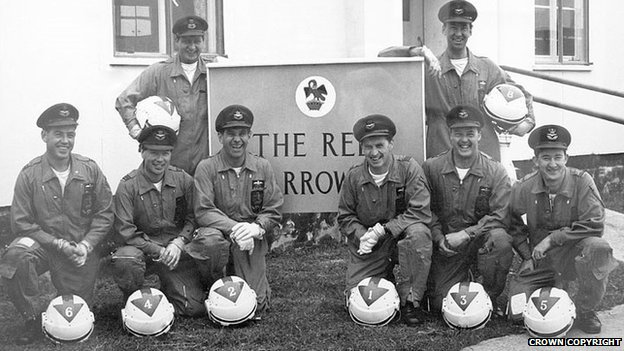 The original Red Arrows team