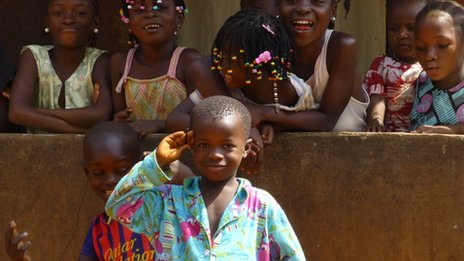Young boy in Freetown