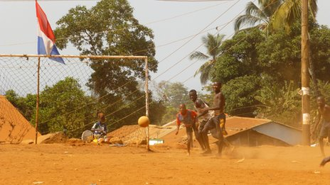 Shot on goal in Freetown