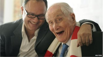 Ronnie Biggs, right, with his son, Michael, in November 2011