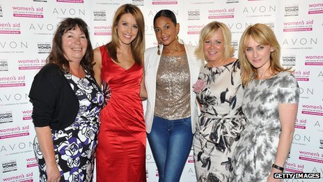 Nicola Harwin, Charlie Webster, Alesha Dixon, Angela Tucker and Trish Halpin