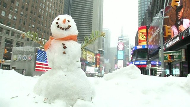 Snowman in New York