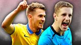 Aaron Ramsey and Michael Dawson
