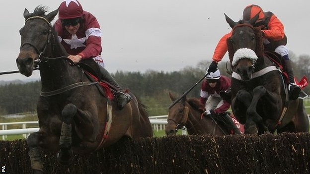 Sir Des Champs beating Long Run at Punchestown