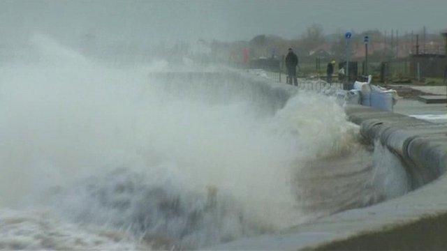 Stormy weather in Aberystwyth