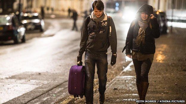 Residents leaving homes
