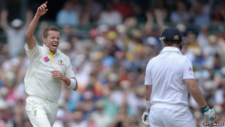 Peter Siddle and Ian Bell