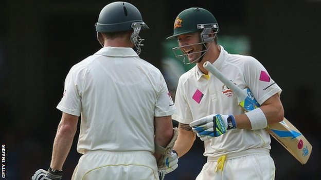 Chris Rogers and Michael Clarke