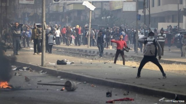 Muslim Brotherhood demonstrators and police clash in Egypt