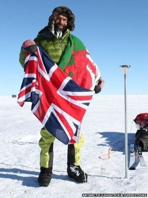 Richard Parks at the South Pole