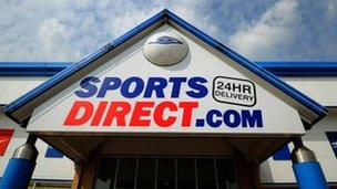Sports Direct store in Tamworth