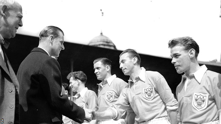 Duke of Edinburgh and Stanley Matthews