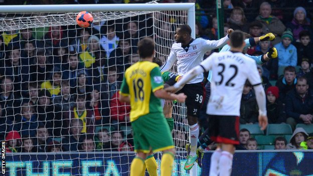 Darren Bent scoring for Fulham