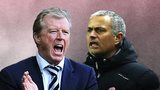 Steve McClaren (left) and Jose Mourinho