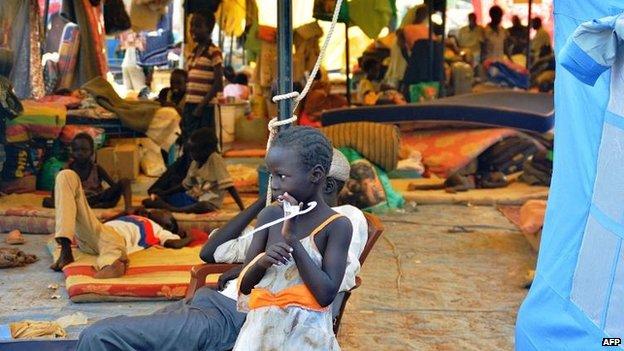 Refugees in Juba, 4 Jan