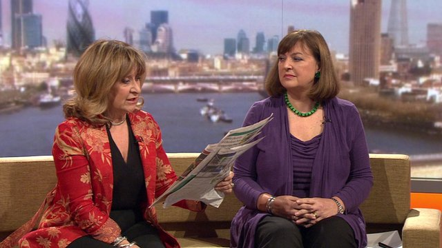 Helena Kennedy and Bridget Kendall review the Sunday newspapers with Andrew Marr