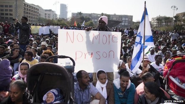 Middle East: African migrants protest Israeli treatment