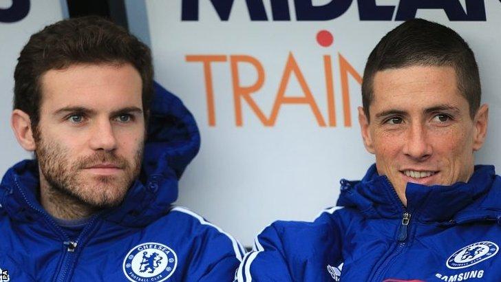 Juan Mata and Fernando Torres