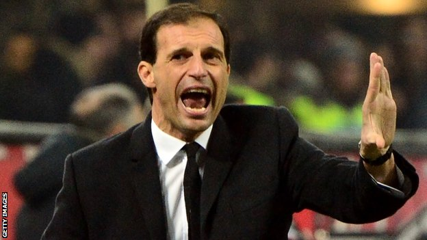 AC Milan manager Massimiliano Allegri