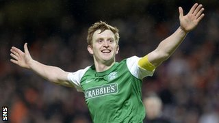 Hibs captain Liam Craig took his goal tally to nine for the season
