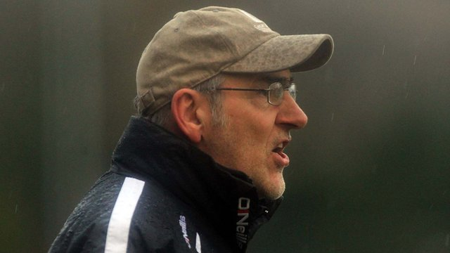 Tyrone manager Mickey Harte during Sunday's McKenna Cup win over Donegal