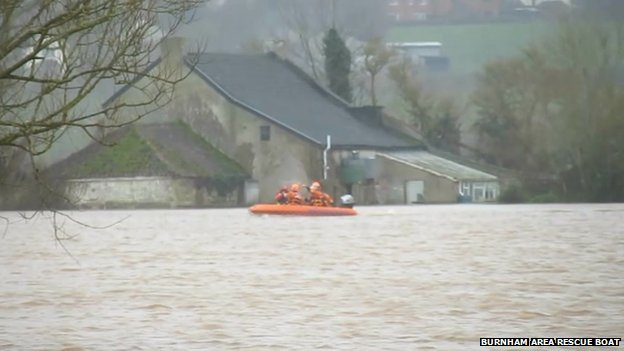 Flood rescue underway in Somerset